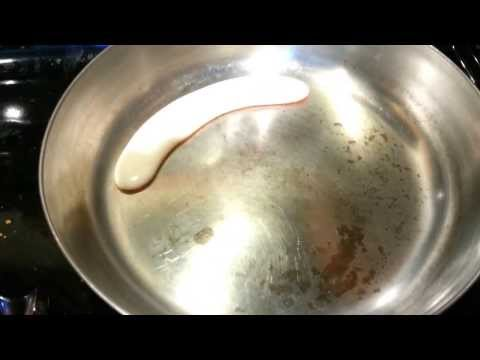 Beer on hot frying pan