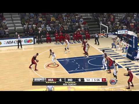 NBA Live 14: Miami Heat Vs Indiana Pacers - 1st Quarter Gameplay (Xbox One)