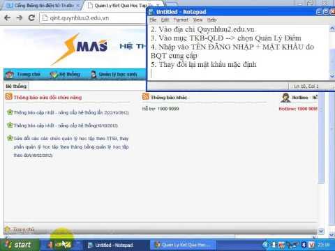 Hướng dẫn đăng nhập và đổi mật khẩu trên SMAS
