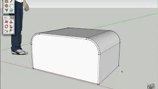 Como Modelar Um Vaso E Mesa De Centro No SketchUp 7