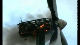 Burning Wind Turbine in Portugal