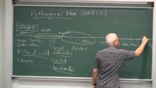 MathHistory1a: Pythagoras' theorem