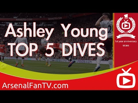 Pride of Man Utd Ashley Young's All Time Top 5 Dives - ArsenalFanTV.com