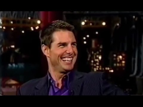 Tom Cruise Laughs Hysterically at The Late Show with David Letterman