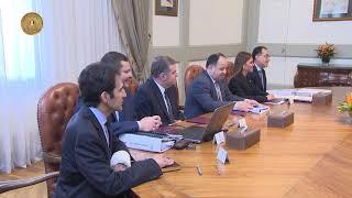 اجتماع الرئيس السيسي مع اللجنة الوزارية