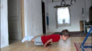 5 y/o Kid Does 20 Vertical Pushups