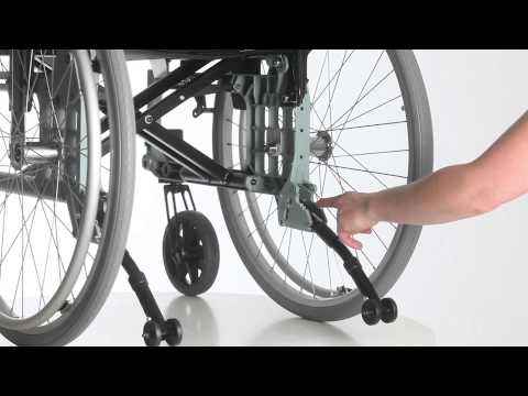 Wheelchair Etac Cross 5 - Guide - Fold up down anti tippers ENG