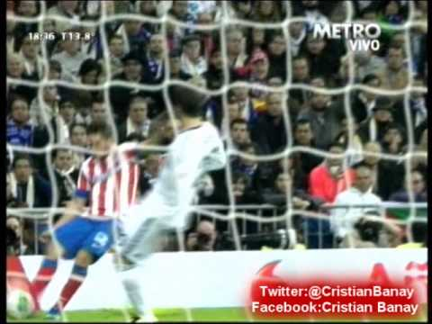 Real Madrid 1 Atletico de  Madrid 2  Final Copa Del Rey 2013 Los goles (17/5/2013)