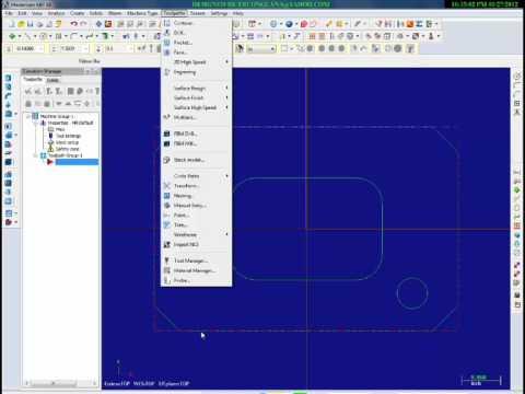 Mastercam X6 Hướng dẫn vẽ từng bước tạo Program Máy tiện Cnc với Bài tập 1