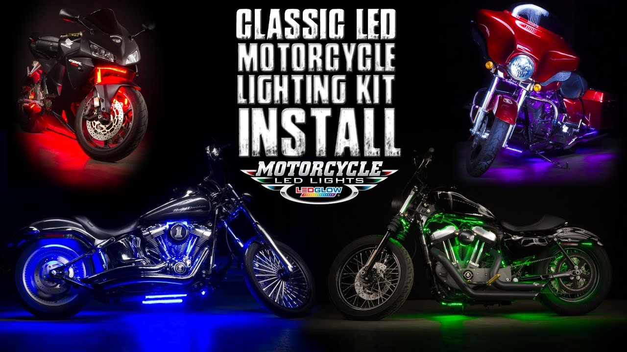 Ledglow S Classic Motorcycle Lighting Kit Install Youtube