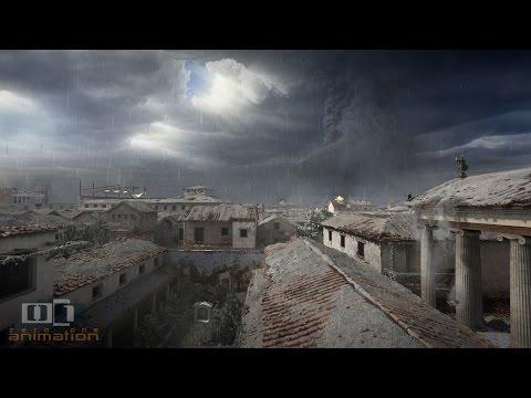 Simulácia erupcie spoky Vezuv