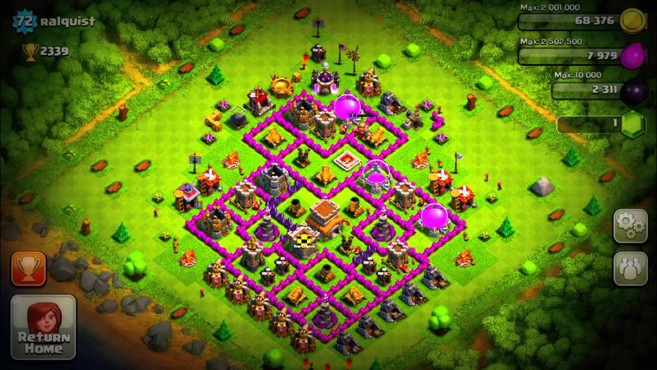 Clash of Clans Defense Town Hall Level 8