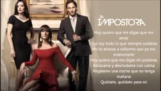 Para Mi Alejandra Guzman ( La Impostora ) Audio Y Letra