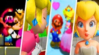 Evolution of Mario getting kissed by Princess Peach (1990 - 2017)