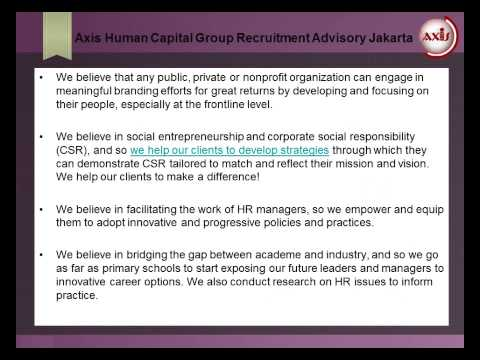 Axis Human Capital Group Recruitment Advisory Jakarta: Our Approach