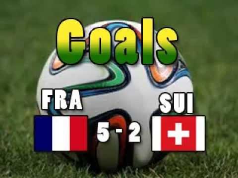 Goals SUIFRA Switzerland 2 France 5 GIROUD MATUIDI VALBUENA BENZEMA SISSOKO CM2014 Wordcup2014