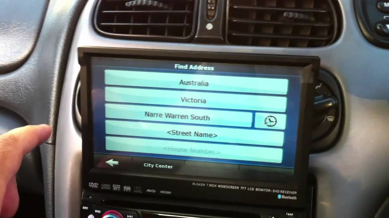 lcd  din car stereo  dash tv cd dvd player gps au al youtube