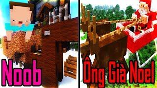 Thăm Nhà Noob Xây Con Tuần Lộc Giáng Sinh Trong Minecraft