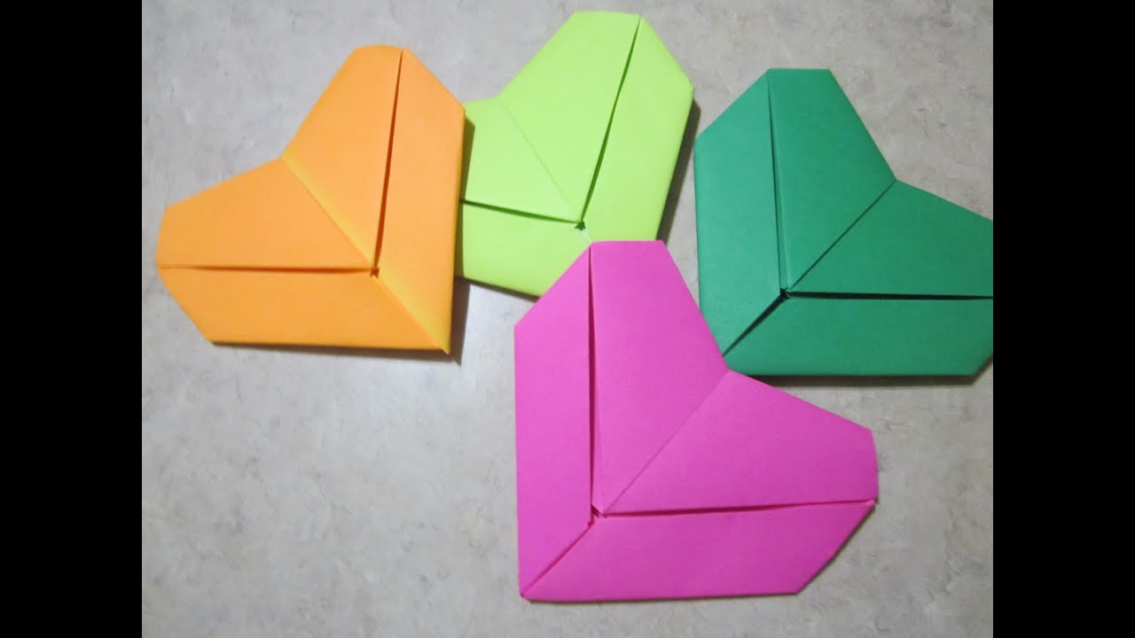 Origami How To: Letter Fold Heart - YouTube