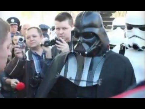 Śmieszny filmik - Darth Vader jest uruchomiony na prezydenta Ukrainy