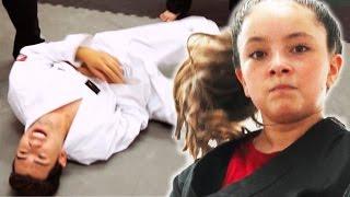 Black Belt Kid Vs. White Belt Adults