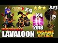 4 Haste Spell LAVALOON NEW TH9 ATTACK STRATEGY 2018 LaLoon Lavaloonion Clash of Clans coc