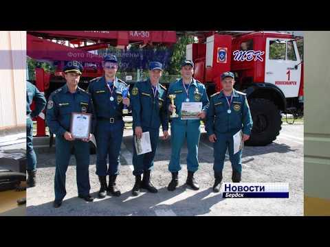 Бердские пожарные заняли второе место в соревнованиях по пожарному кроссфиту