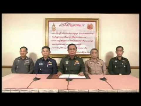 Thailand coup d'etat as military seizes power (22/5/2014)