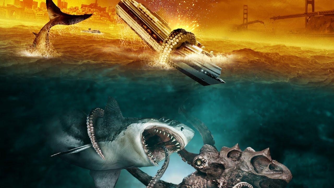 Megalodon Shark Vs Giant Squid