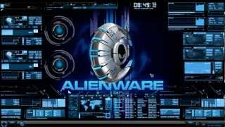 HUD Theme Evolution + Rainmeter + Alienware Media Skin