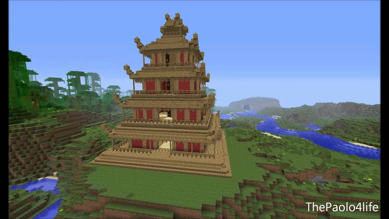 fine minecraft japanese pagoda outdoors look at the with - Minecraft Japanese Pagoda