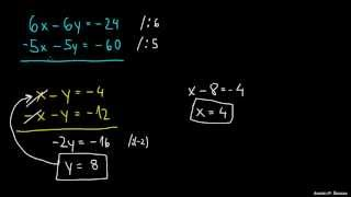 Dve enačbi dve neznanki – primer 1