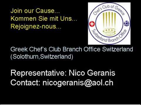 'Hellas Radio' feat.Nico Geranis with Greek Chef's Club Branch Office in Switzerland