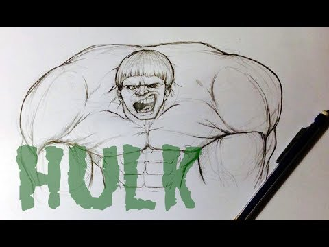 How to Draw the Hulk - Easy Things To Draw