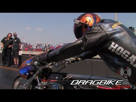 Top Fuel Nitro Dragbike-Korry Hogan goes 254mph in 1/4! Sets National Record!