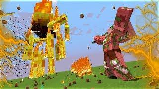 QUỶ LỬA KHỔNG LỒ ĐẤU VỚI ZOMBIE PIGMAN KHỔNG LỒ (Trận Chiến Kinh Khủng Nhất Minecraft!!)