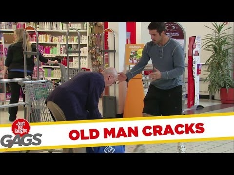 Old Man Back Cracking Prank - Roppanás