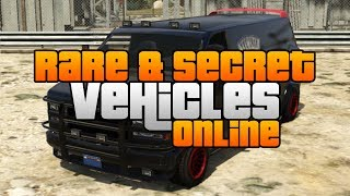 GTA 5 Rare & Secret Vehicles Online Locations! Rare