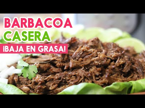 Barbacoa de res ¡Sin Grasa! Versión Saludable Mexican Barbacoa Low Fat Recipe