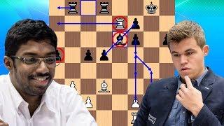 Baskaran Adhiban vs Magnus Carlsen | 2018 Tata Steel Chess Tournament
