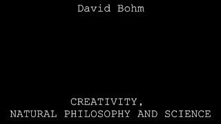 david bohm on creativity pdf