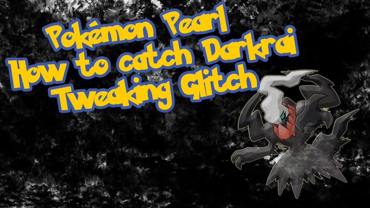 how to get darkrai in pokemon diamond