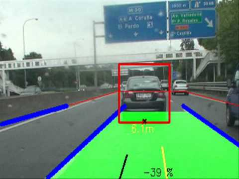 Road lane and vehicle tracking OpenCV