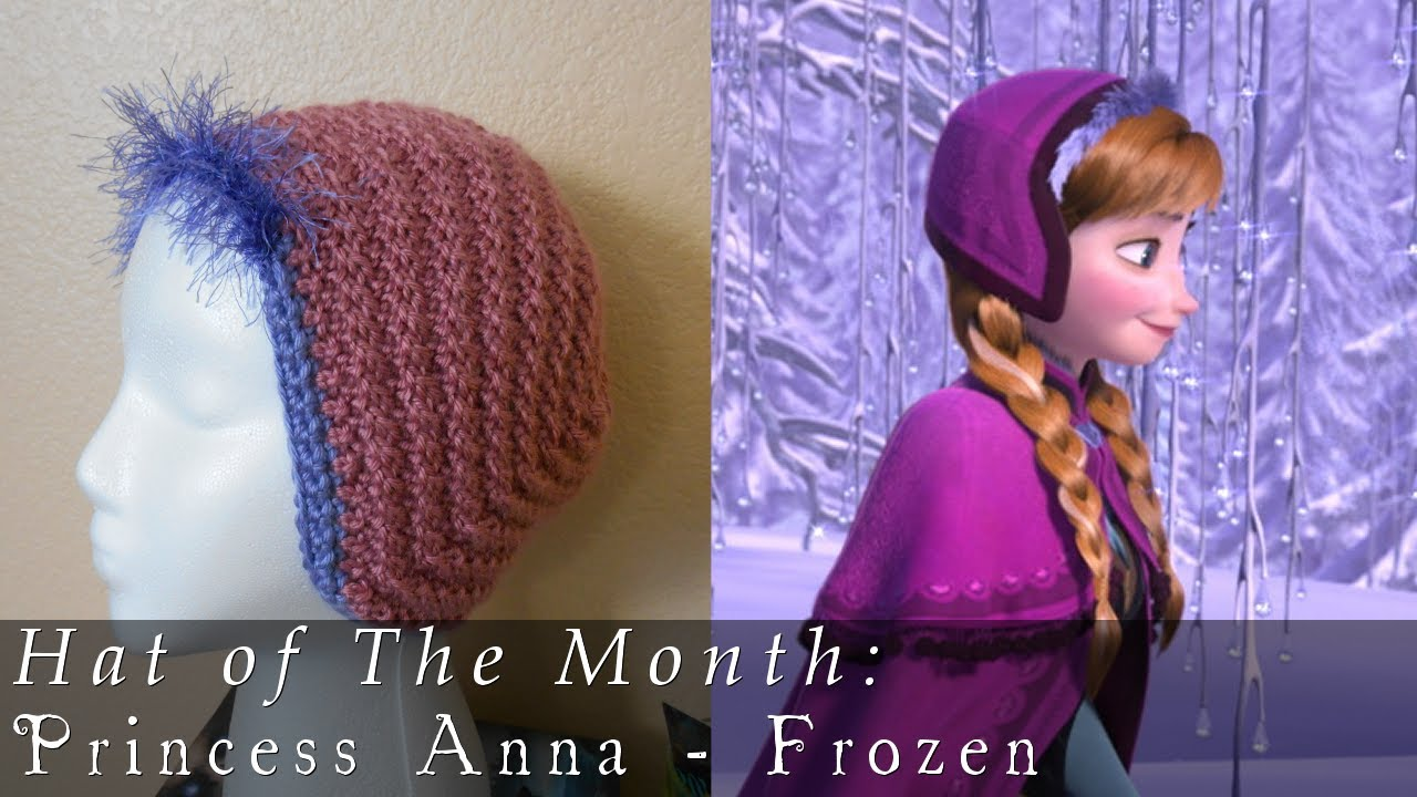 Crochet Pattern Anna Hat : Hat of The Month Jan. 2014 Frozen - Anna - YouTube