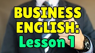 Business English Course, Lesson 1, Essential Job Vocabulary, Espresso English
