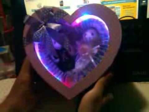 Hình ảnh trong video Hộp quà LED trái tim gấu bông