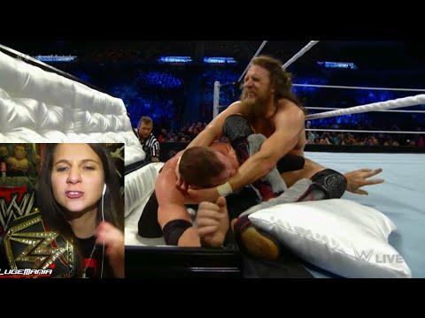 WWE Smackdown 1/29/15 Kane vs Daniel Bryan Casket Match