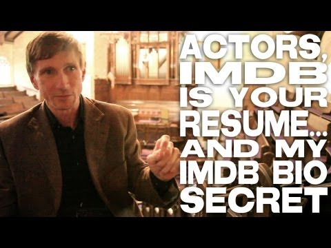 Actors, IMDB Is Your Resume... and My IMDB Bio Secret by Bill Oberst Jr.