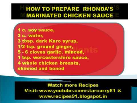 HOW TO PREPARE  RHONDA'S MARINATED CHICKEN SAUCE FUNNY HOT RECIPES,FOOD, KITCHEN,COOKING,NON VEGETAR
