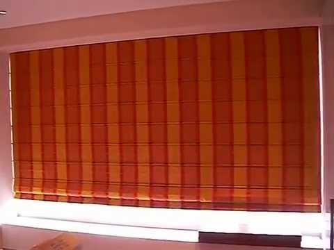Motorized Roman Shades With Remote Control By Horizon